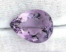 26.86 Carat Natural Brazilian Pear Teardrop Amethyst Gemstone Gem Stone  EBS231