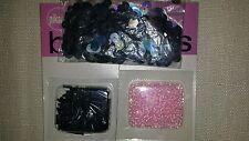 Bolsa mezclada de cuentas y lentejuelas rosa y estaño