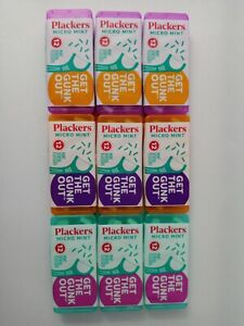 PLACKERS Micro Mint Dental Flossers Travel Case 9 COUNT MINT FLOSSER & TOOTHPICK
