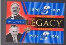 2013 Upper Deck Kansas Jayhawk Legacy Duos #JLD1 Phog Allen / James Naismith SP