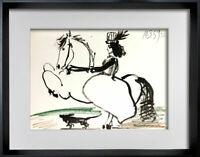 "Pablo PICASSO Lithograph LIMITED Edition ""10.3.59 XI"" w/ Cat. Ref. C112 + FRAME"
