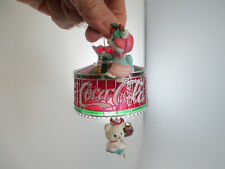 Enesco Coca-Cola Tiffany Lamp Mouse Holiday Christmas Ornament Limited Edition