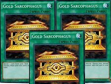 Gold Sarcophagus 1st X 3 YUGIOH LDK2-ENY22 Normal Spell Card