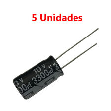 5x Condensador Electrolitico Polarizado 3300uF 10V 20x11mm