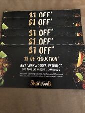 5 Coupons X $1 off any Sharwood's product (cooking sauces, pastes & chutneys)