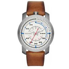 5de6285264e4 DZ1749 Nuevo Genuino Plataforma De Acero Inoxidable Reloj Diesel En Cuero  Tostado RRP £ 125