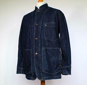 "Levi's Denim Jacket Mandarin Collar - Medium/40"" - Mod 60's Casuals Scooter Rare"