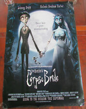 Tim Burton Corpse Bride Double Sided Advance Movie Poster 27x40