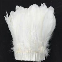 Goose Feather Trimming Fringe Satin Ribbon Tape Party Evening Dress Craft 2M