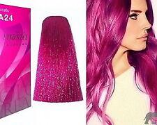 BERINA No A24 Pink Magenta Permanent Hair Color Cream Hair Dye Professional Use