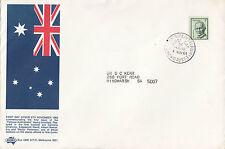 Stamp 1968 Famous Australians booklet Edgeworth Sigma Pharmaceuticals cachet Fdc