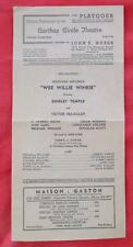 1937  PLAYBILL CATHAY CIRCLE THEATRE L.A. WEE WILLIE WINKIE SHIRLEY TEMPLE