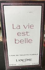 LANCOME LA VIE EST BELLE L'EAU DE TOILETTE FLORALE PERFUME 50mL 1.7oz NIB
