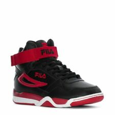 FILA MULTIVERSE HIGH TRAINERS SPORTS SNEAKERS MEN SHOES BLACK/RED SIZE 12 NEW