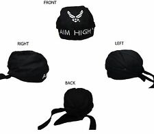US Air Force Aim High Do Rag Doo Rag Skull Cap Head Wrap Black
