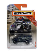 Matchbox 2019 MBX Rescue S.W.A.T. 1:64 Scale Police Truck Gray 59/100 - NEW