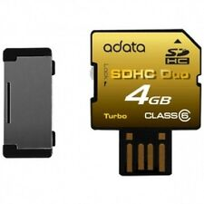 4GB A-Data Secure Digital SDHC Duo carta CL6 Turbo Series (SDHC + interfaccia US