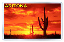 ARIZONA DESERT SUNSET MOD2 FRIDGE MAGNET SOUVENIR IMAN NEVERA