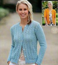 "WOMEN'S LADIES LACY KNIT  CARDIGANS  DK  Knitting Pattern  32 - 54 "" - No 155A"