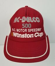 VTG AC-DELCO 500 N.C. Motor Speedway Winston Cup Snapback Mesh Trucker Hat Red