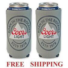 Coors Light Rockies 2 Beer Can Cooler 16oz Coozie Coolie Koozie Huggie New