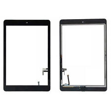 For iPad Air 1 Digitizer Black Replacement Touch Screen Glass Adhesive + Button