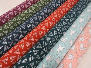Craft 100% Cotton Triangle Zig Zag Abstract Fabric Upholstery Curtains Quilting