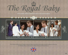 More details for antigua & barbuda royalty stamps 2020 prince archie baby harry & meghan 4v m/s