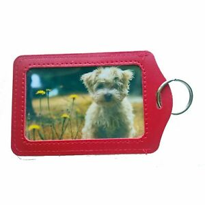 Photo Key Ring Your Picture Double Sided Print with Holder