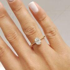 1.50 Ct Oval Cut VVS1/D Diamond Engagement Ring 14K Yellow Gold Finish