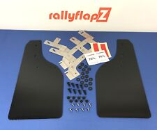 Rally Style Mudflaps FORD FIESTA ST ST180 Mud Flaps Black 4mm PVC FRONTS + Brkts