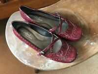 NATURAL SOUL by NATURALIZER Mary Janes Burgandy Patent Leather Womens US 7