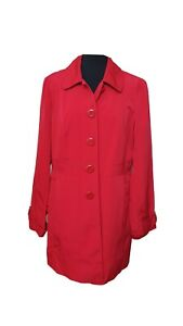 GEORGE Jacket Size 16 Red Trench coat Mac Outdoors Everyday Evening