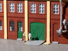 Auhagen kit 80250 NEW HO GATES DOORS RAMPS AND STEPS GREEN (22 PCS)