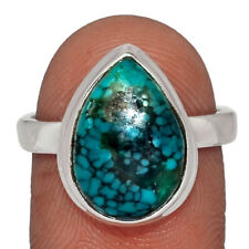 Natural Tibetan Turquoise 925 Sterling Silver Ring Jewelry s.8 AR139606