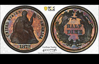 1872 PCGS PR66 ██ Gorgeous PROOF Seated Half Dime RARE H10c