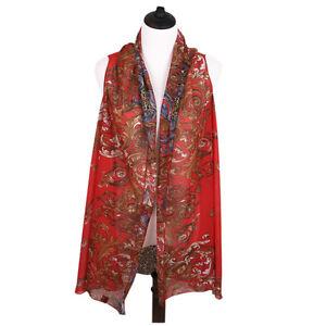 TrendsBlue Multi Use Floral Leopard Chiffon Kimono Scarf Vest Beach Cover Up