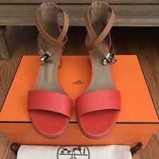 NIB Hermes Manege Kelly Buckle Sandals SZ 36.5