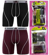 Adidas Mens Performance 2-Pack Boxer Brief Size Xl (40-42) Black/Burgundy