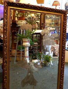 Stunning Large Etched Fantasy Mirror, Merlin, Camelot, Excalibur, 72 cm x 102 cm