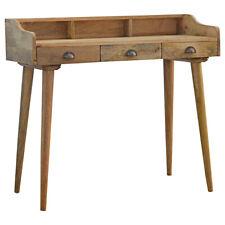 Wood Writing Desk 3 Drawers | Home Office Table | Handmade Wood |Vintage Modern
