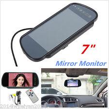 "7"" LCD TFT Screen Car Reverse Parking Rear View Backup Camera DVD Mirror Monitor"