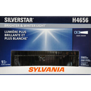 SYLVANIA H4656 SilverStar High Performance Halogen Sealed Beam Headlight Pair X2