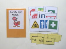 Teacher Made Social Studies Center Educational Resource Game Safety Sign Match