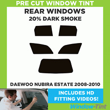 Pre Cut Window Tint - Daewoo Nubira Estate 2008-2010 - 20% Dark Rear