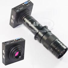 180X Measuring 1080P HDMI VGA Industrial Microscope Video Camera C-mount Lens US