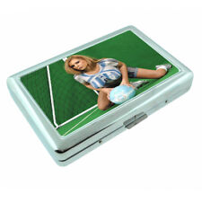 Argentina Pin Up Girls D10 Silver Metal Cigarette Case RFID Protection Wallet