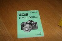 Mode Demveronique original Canon EOS 500 500qd Manuelle mode d'emploi francais