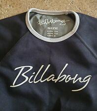 Billabong Equator 0.5mm Metalite Wet Suit Top Women's Sz 6 Black w/white trim
