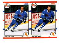 50 count lot 1990/91 Score Guy Lafleur CARDS w/ 25 french Quebec Nordiques HOF!